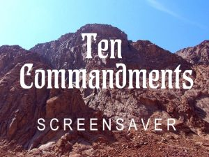 Channel Poster for Ten Commandments Screensaver; Mt. Sinai with blue sky
