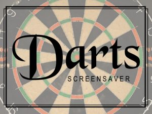 Channel Poster for Darts Screensaver; faded dartboard with logo in foreground